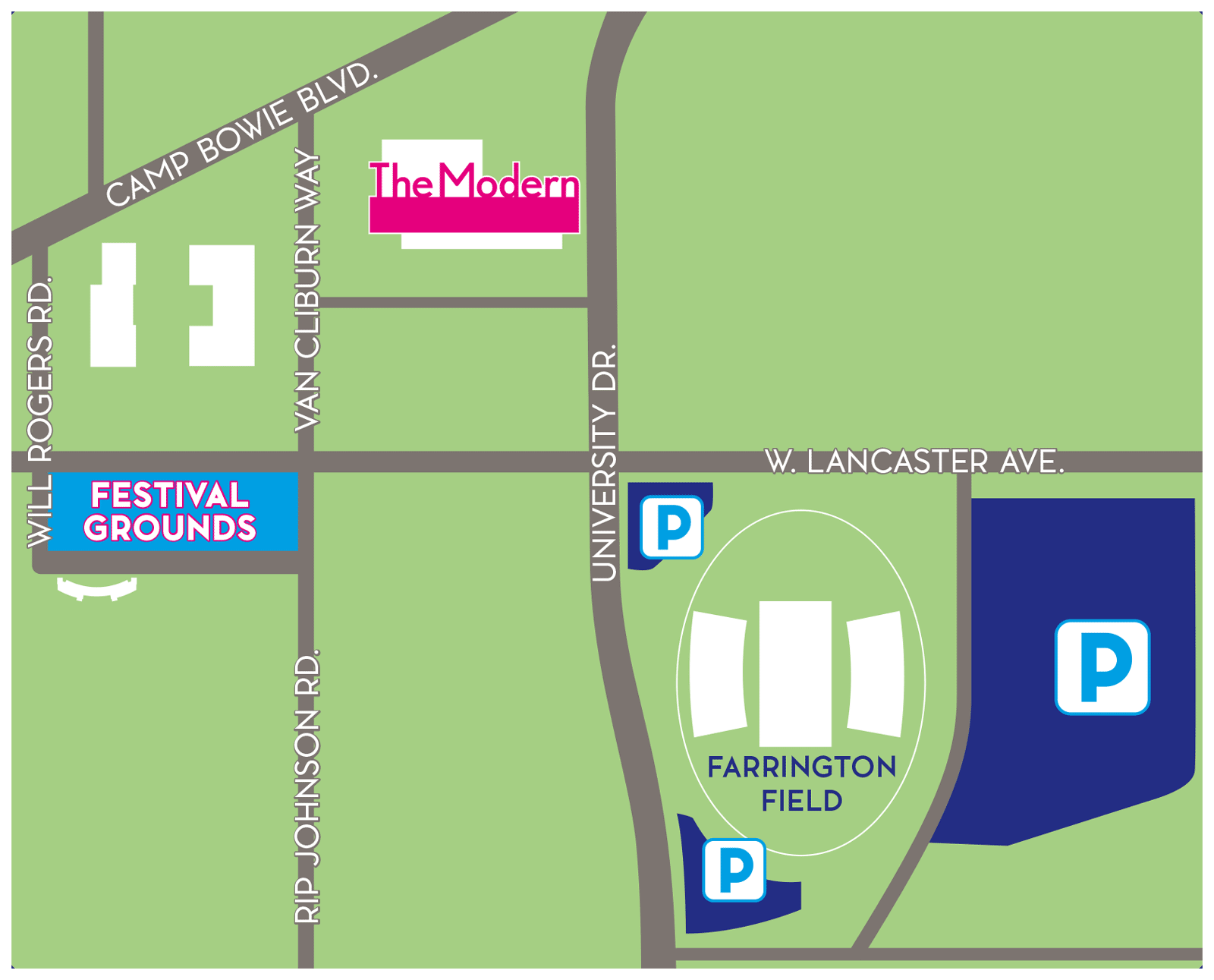 Overview map of festival location