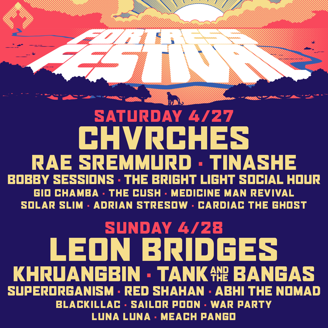 2019 Fortress Festival Lineup Announcement Poster